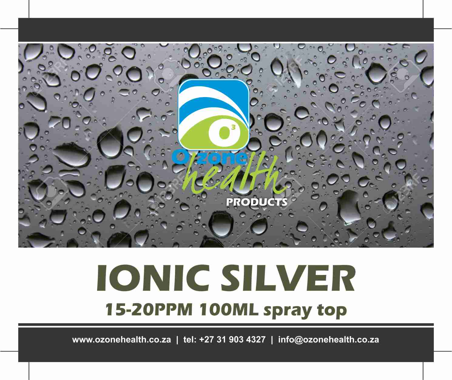 Ionic Silver - 20ppm - 100ml spray  Medical Shop Silver ionic 100