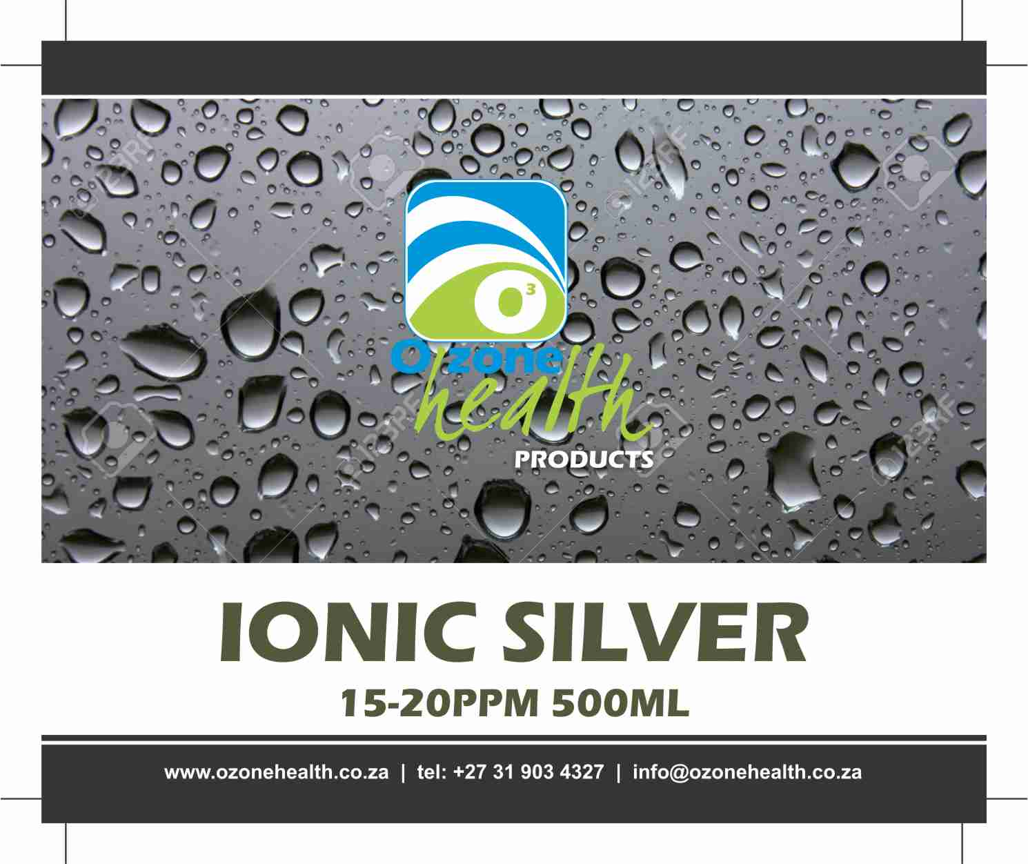 Ionic Silver - 20ppm - 500ml  Medical Shop Silver ionic 500